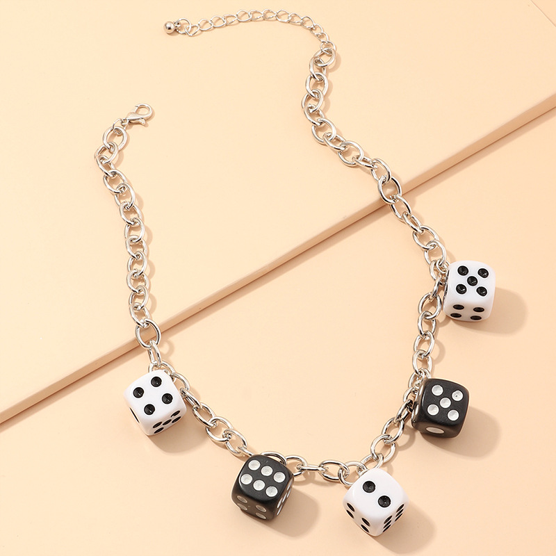 fashion jewelry fun dice pendant trend dice necklace wholesale nihaojewelry NHNZ227781