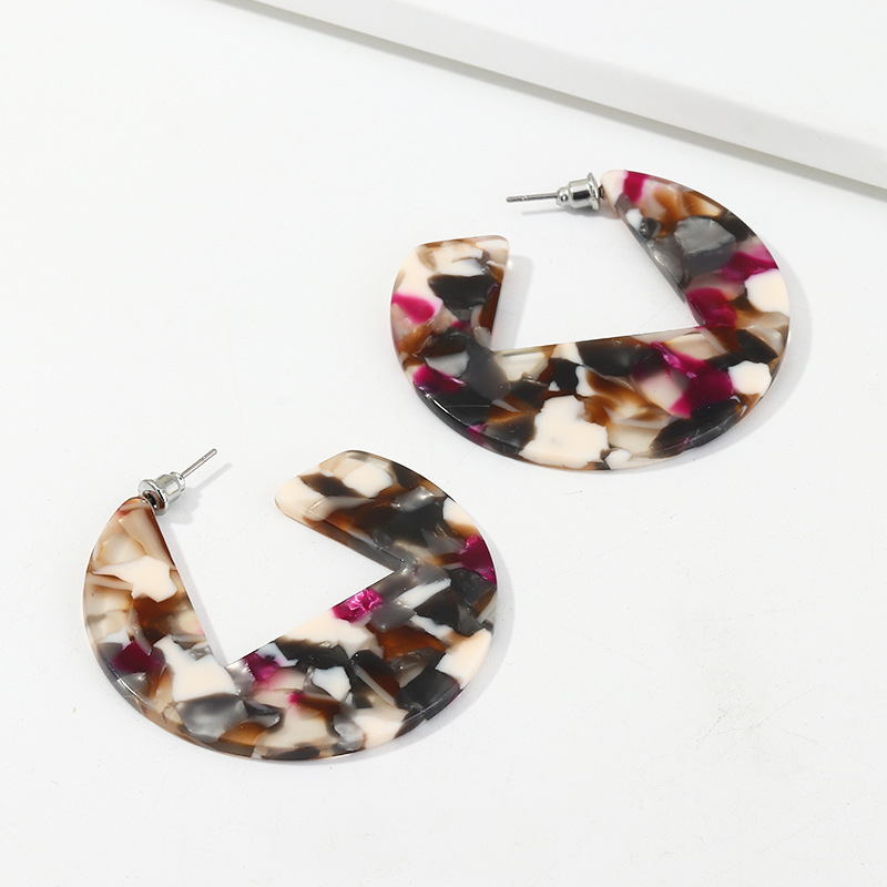 New fashion geometric acrylic acetate plate earrings for women NHNZ198772