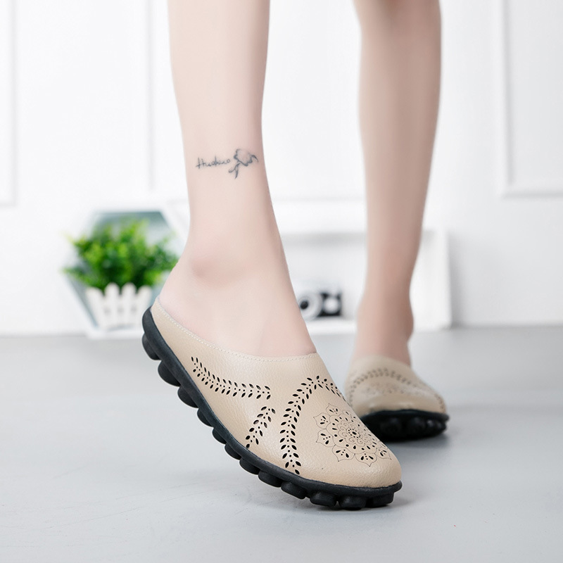 Spring and Summer Plus Size Slippers Casual Shoes Low-Top Shoes Flat Peas Women's Shoes