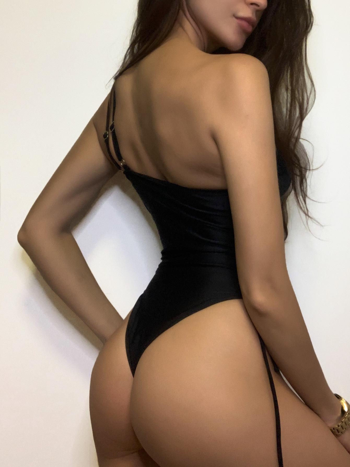 irregular one-shoulder strap sexy side drawstring lace-up elastic one-piece swimwear  NSDYS54003