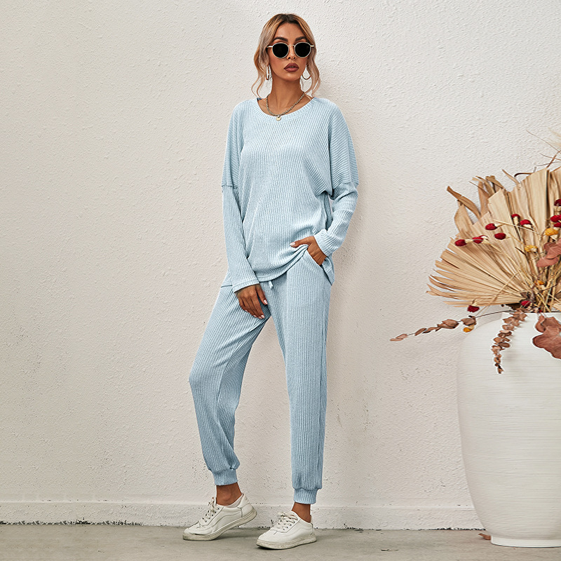 autumn and winter loose solid color long-sleeved casual suit NSKX8439