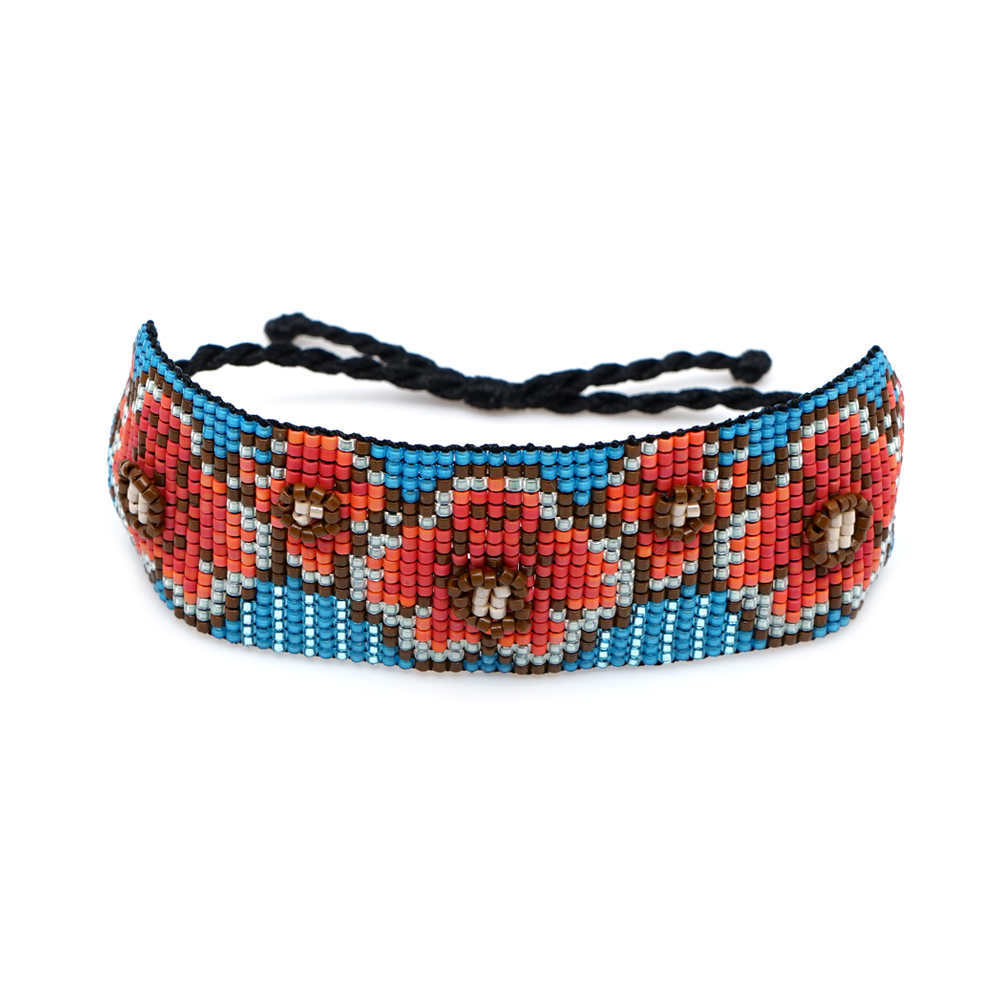 Miyuki made plum blossom beaded bracelet fashion rainbow style ethnic style handmade jewelry wholesale nihaojewelry NHGW232248
