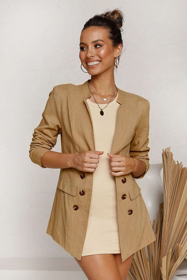 autumn and winter new fashion decorative button long-sleeved cardigan suit  NSYD3784