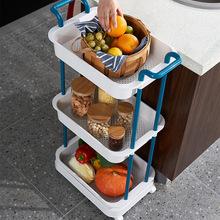 厨房多层长方形收纳架卧室可移动落地置物架整理架浴室夹缝小推车