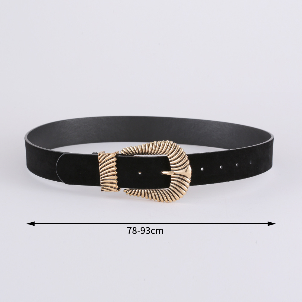Korean fashion suede belt new exquisite creative diamond belt women NHJJ203642
