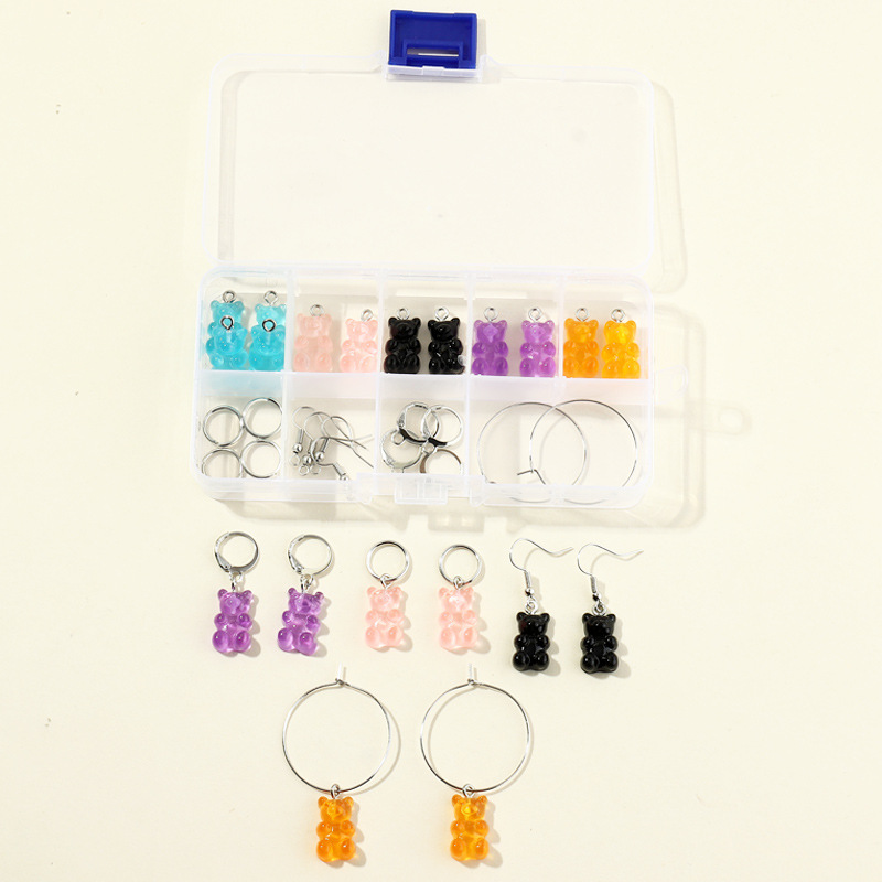 jewelry accessories resin storage separate earring box NHNZ277296