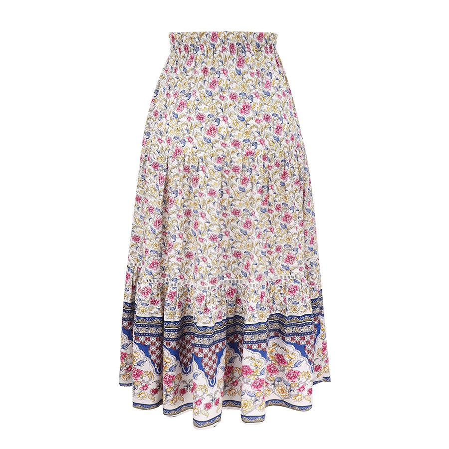 Comfortable printed rayon skirt  NSAL8070