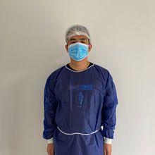 一次性手术衣PP无纺布SMS隔离服防尘针织袖口围裙反穿衣工厂批发