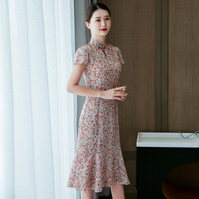 Cheongsam style dress with Chinese style