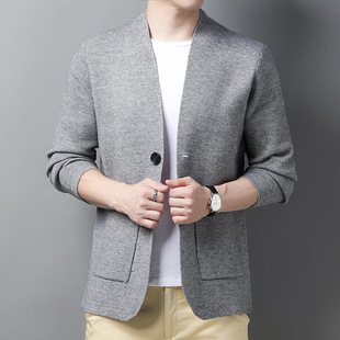Yaxite 2021 autumn new products men's knitted cardigan fashionable and handsome men's jacket youth men's jacket