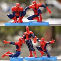 蜘蛛侠漫威超级英雄复仇者联盟蜘蛛侠玩具手办桌面蛋糕装饰品批发