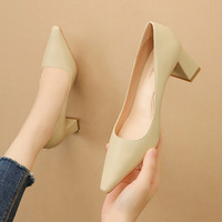 9967-2 han edition fashion pointed shallow mouth high-heeled shoes show thin professional OL thick with joker sexy women's shoes for women's shoes