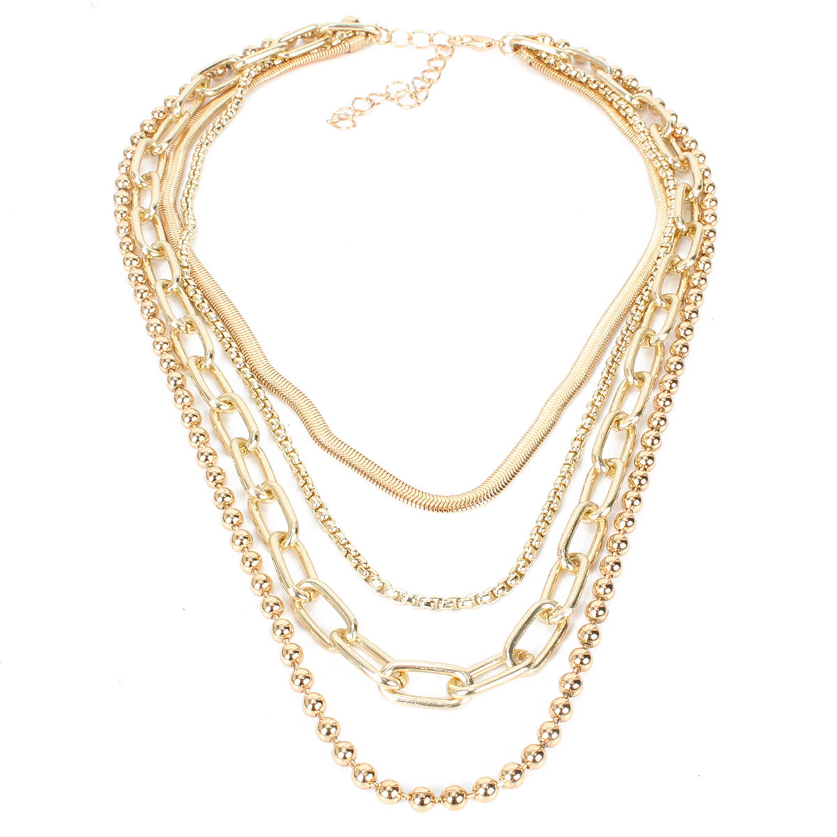 Fashion metal necklace wholesale nihaojewelry multi-layer chain clavicle chain necklace women NHCT218048