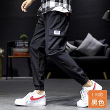 工装裤男士2021春夏季新款秋男裤潮牌宽松潮流休闲裤大码裤子