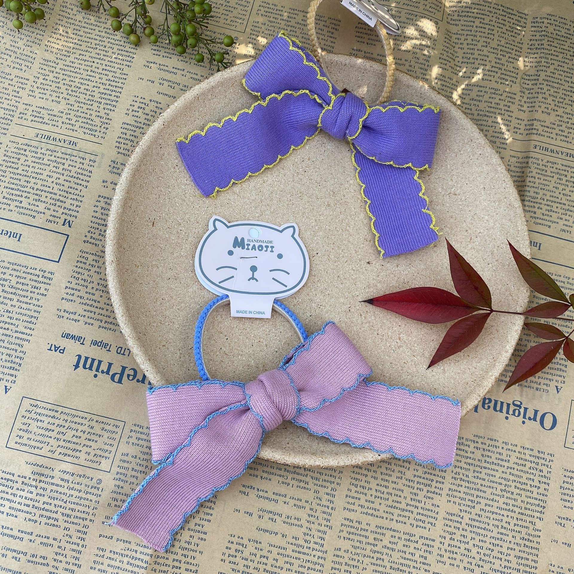 knitted bow hair rope NHMO301268