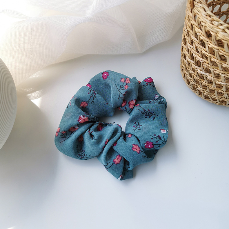 New sweet small floral fabric hair rope Korean literature and art retro style nostalgic cheap hair accessories wholesale NHMS205762