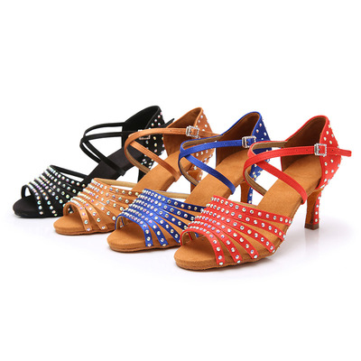 Latin dance shoes female adult dance shoes with high heels and soft soles