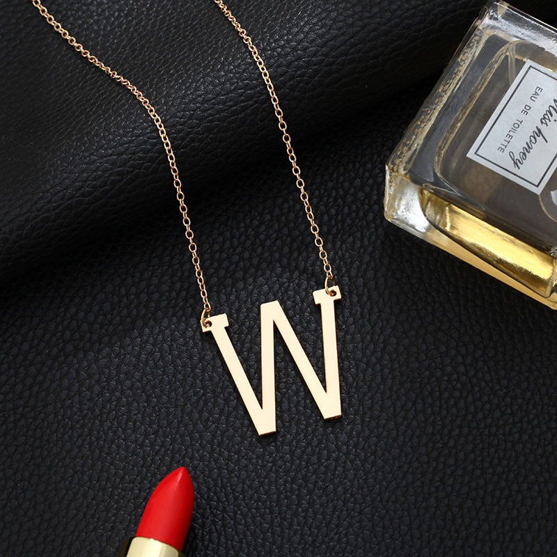 26 English Letters Alloy Necklace NHPF284824