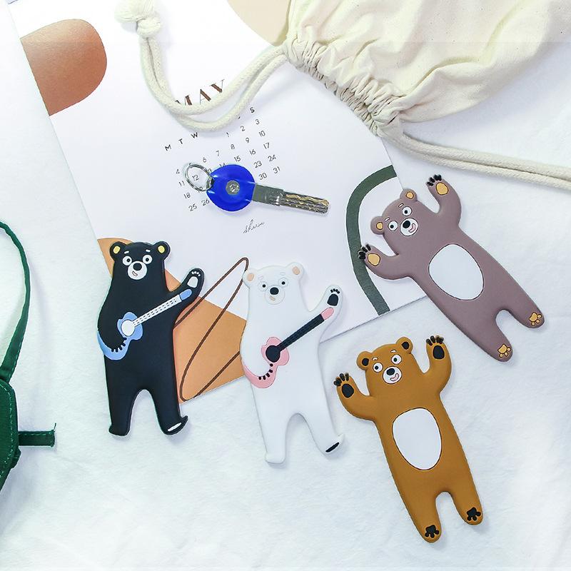 30698创意可爱乐迪熊PVC软胶磁铁粘钩卡通动物挂钩吸磁冰箱贴