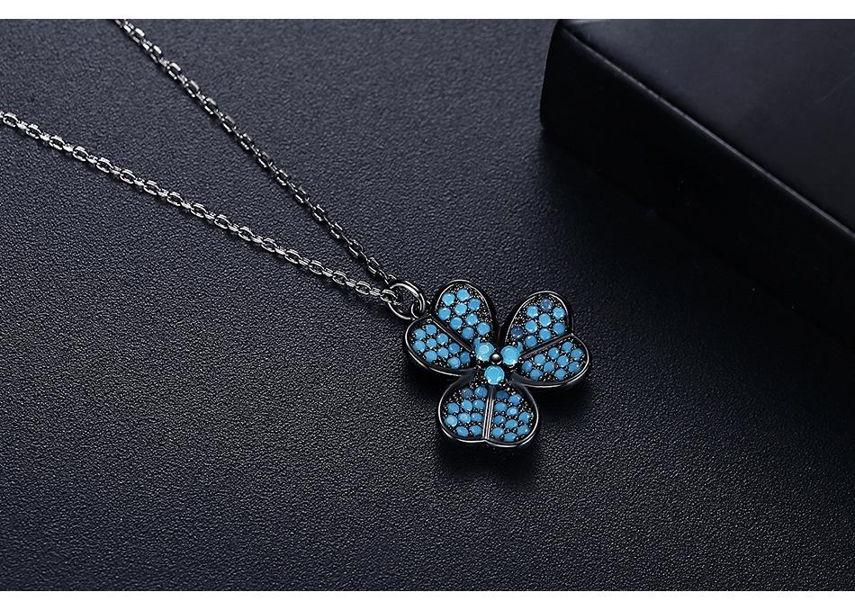 Fashion turquoise pendant women's necklace wholesale NHTM253183