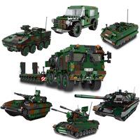 星堡积木军事系列美洲狮装甲车军用吉普车自行高炮小颗粒益智玩具