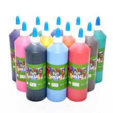 12色500ml手指画颜料儿童手工diy木质纸质涂鸦彩绘可水洗水粉颜料