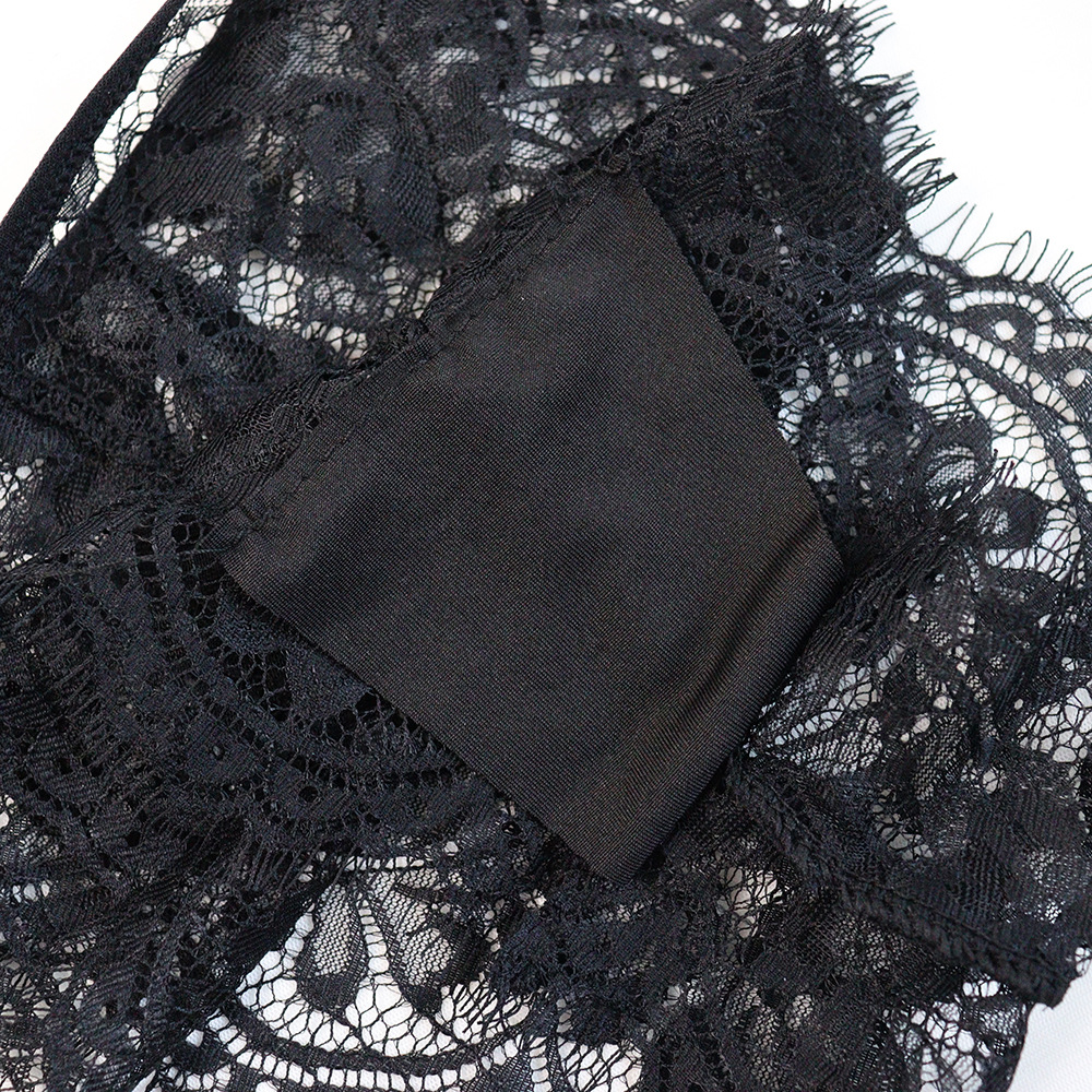 three-point lace hollow sexy underwear suit  NHYO287276