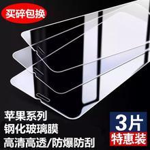 适用iphone6s钢化膜6plus7手机贴膜i8P保护5s/5se玻璃x/xr/xs max