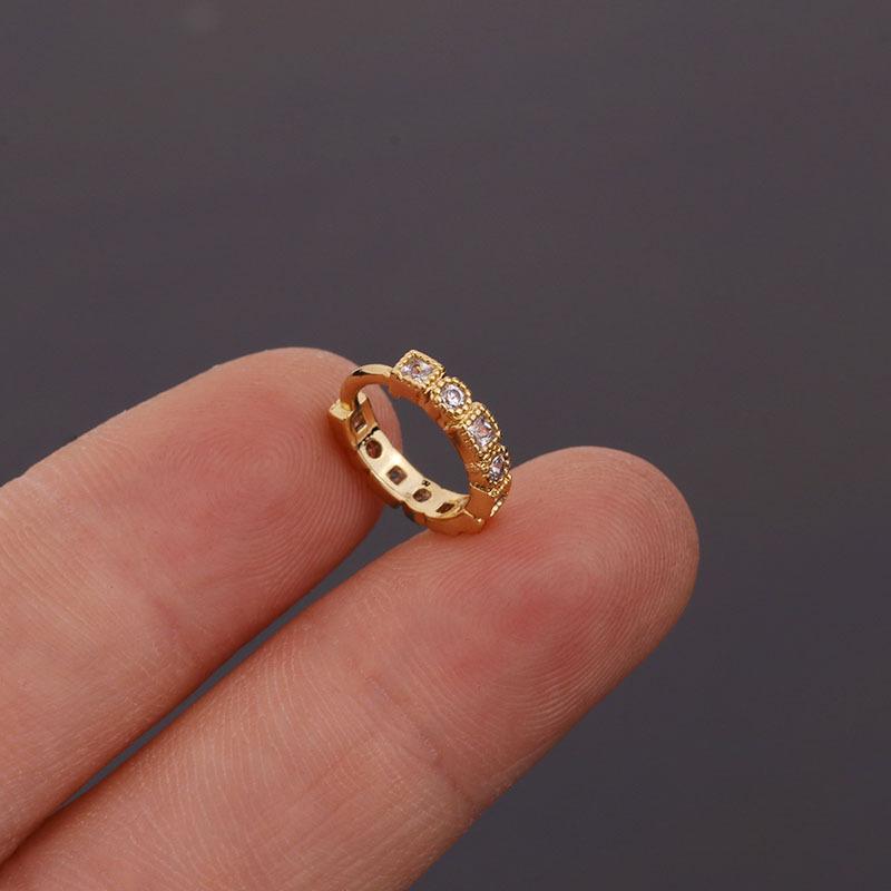 fashion zircon earrings NHEN260925