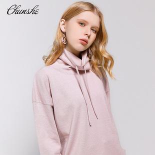 [Chunshe] Original designer women's new style pile of drawstring collar bottoming cashmere sweater sweater knit sweater women 002