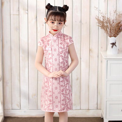 Cheongsam for kids Girl Chinese Dress cheongsam National Children Chinese Dress cheongsam dress short sleeve cheongsam