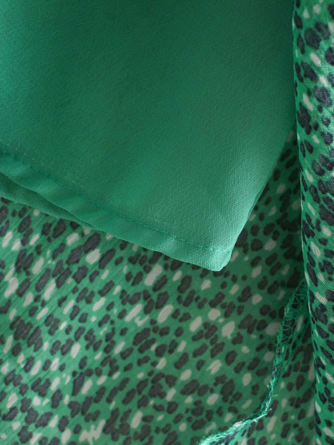 New fashion printed round neck short sleeve dress wholesale NHAM201453