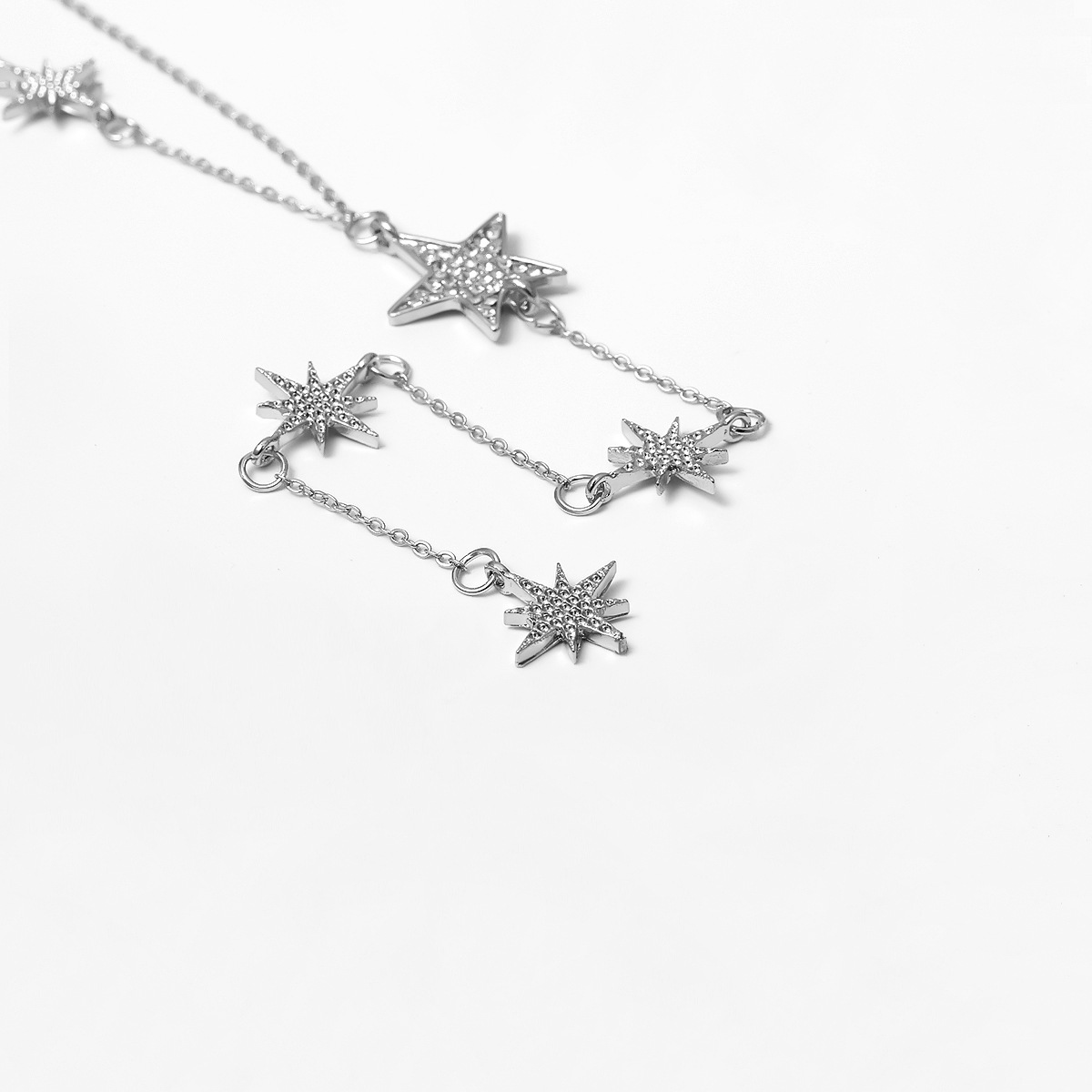 Fashion five-pointed star sweater chain elegant temperament multilayer ladies necklace NHXR192406