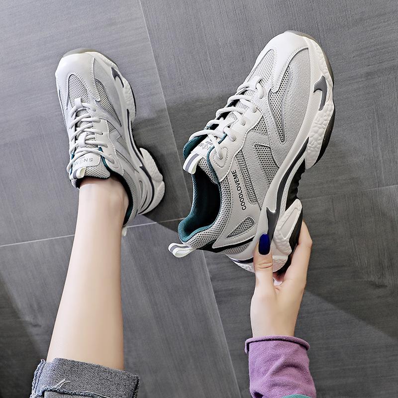 女鞋2021春夏新款老爹鞋女时尚网面鞋潮搭网红运动韩版休闲鞋子女
