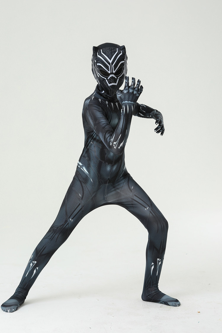 Black Panther Costume Adult Kids All Sizes for Halloween Cosplay Party