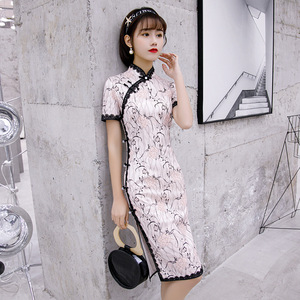 Chinese Dress Qipao for women Lady fanlei cheongsam looks sexy ress with large size Robes chinoises