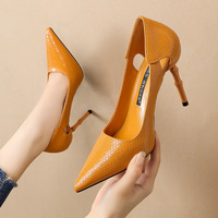 1680-2 han edition fashion point light mouth high-heeled shoes serpentine sexy women's shoes hollow out fine for women's shoes to the feast