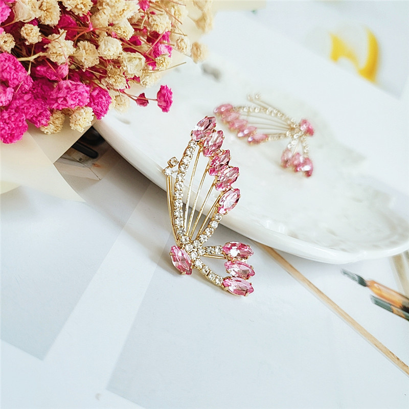 Fashion butterfly and diamond girls earrings wholesale supply NHVA217298