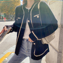 2020秋冬新款女装仿貂绒毛衣外套女时尚慵懒风韩版宽松针织开衫女