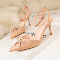 899-30 han edition fine summer fashion footwear with bowknot pointed high-heeled shoes with high thin one word with sandals