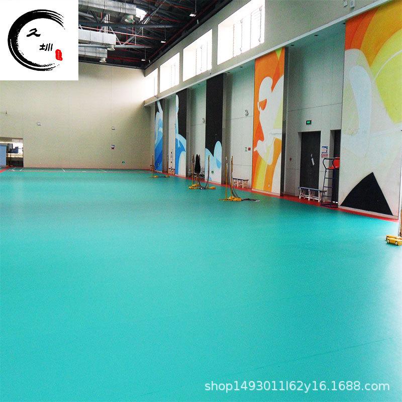 石家庄供应专业运动比赛型 室内羽毛球场pvc地板 乒乓球场地面