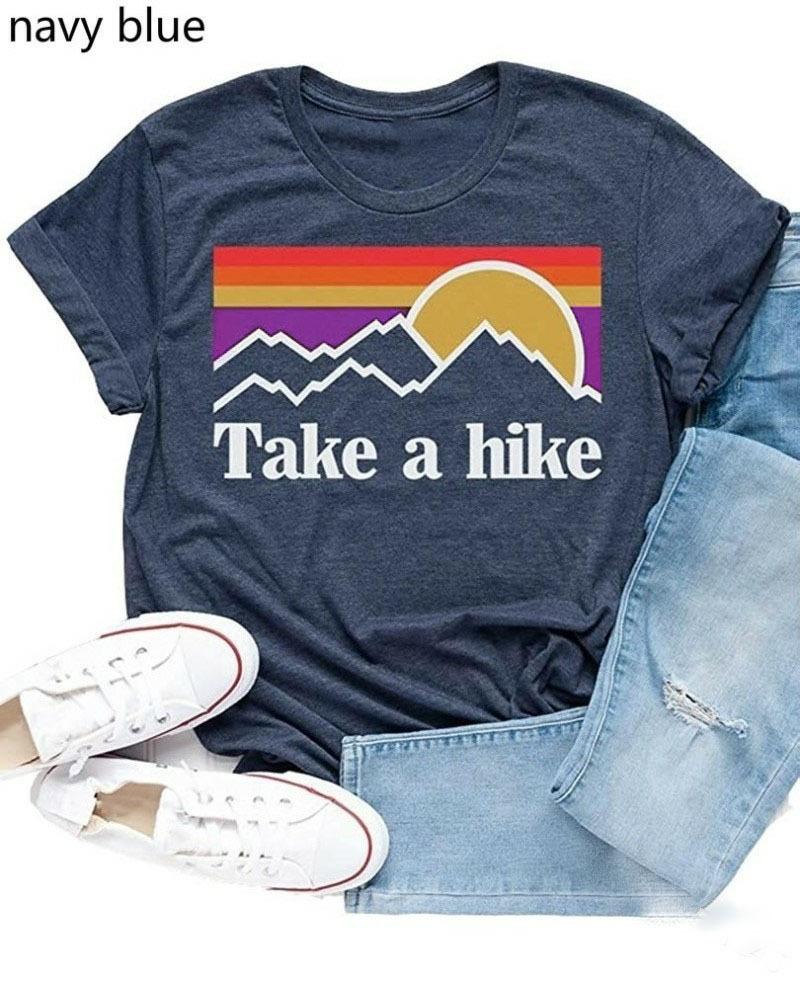 take a hike欧美eaby速卖通亚马逊wish爆款套头圆领宽松型女式T恤