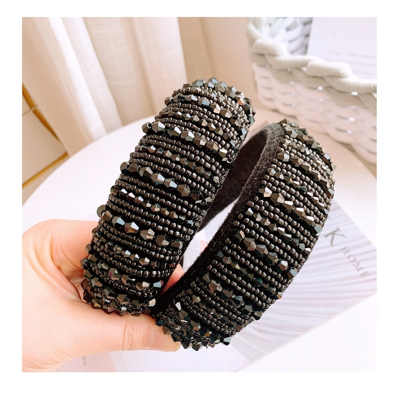 New fashion wild hair with pressure black headband wide edge hair hoop wholesale NHHD200317