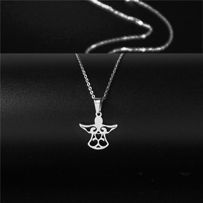 fashion simple style angel necklace NHAC313980