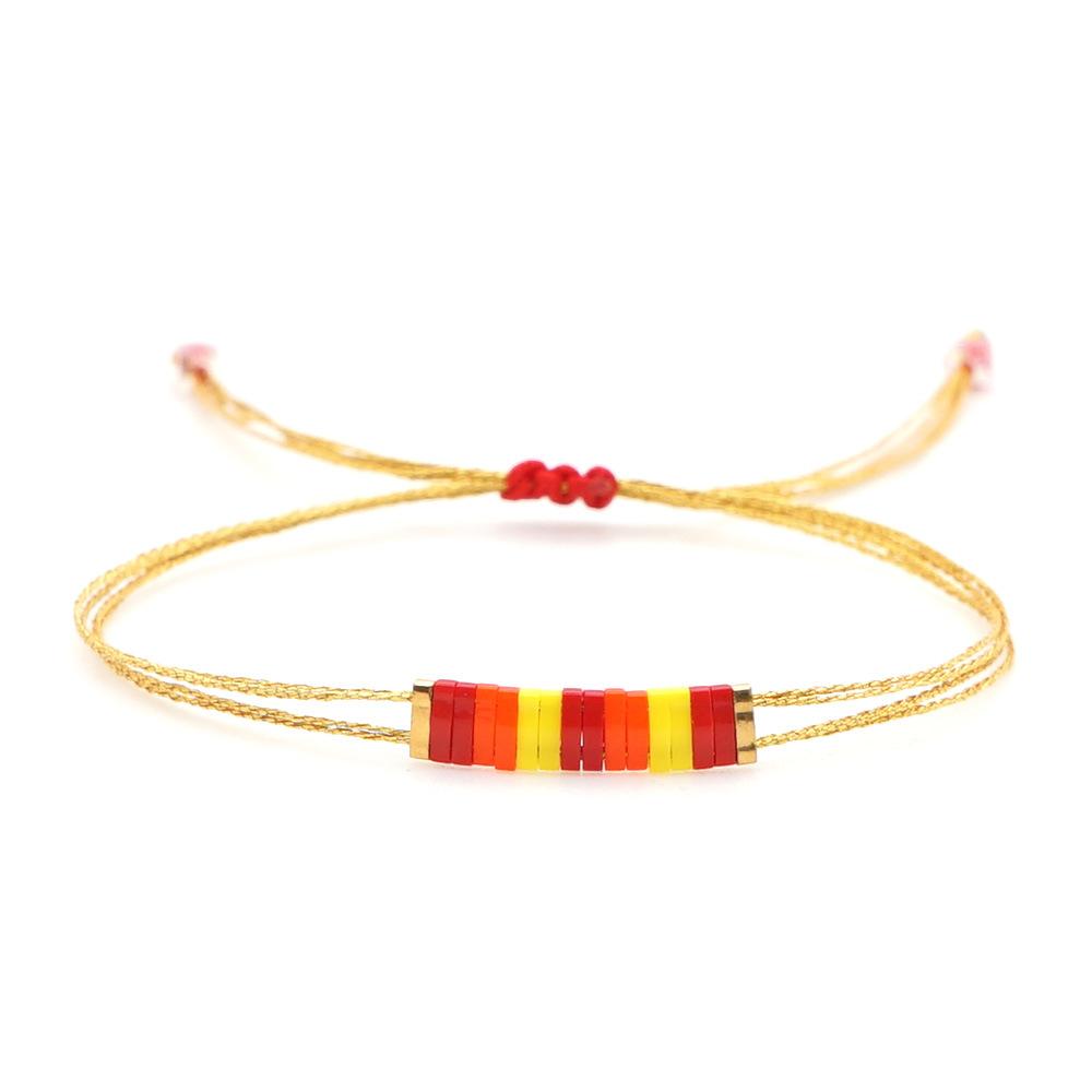 fashion couple bohemian style imported tila beaded bracelet wholesale NHGW243595