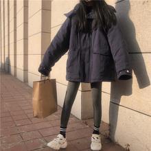 厂家直销春季韩版宽松学生连帽保暖棉衣棉服潮加厚工装棉袄外套女