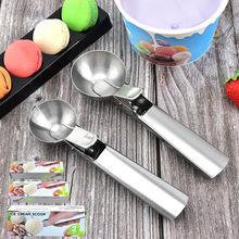 厂家批发不锈钢冰淇淋水果挖球器冰激凌匙雪糕勺子厨房小工具批发