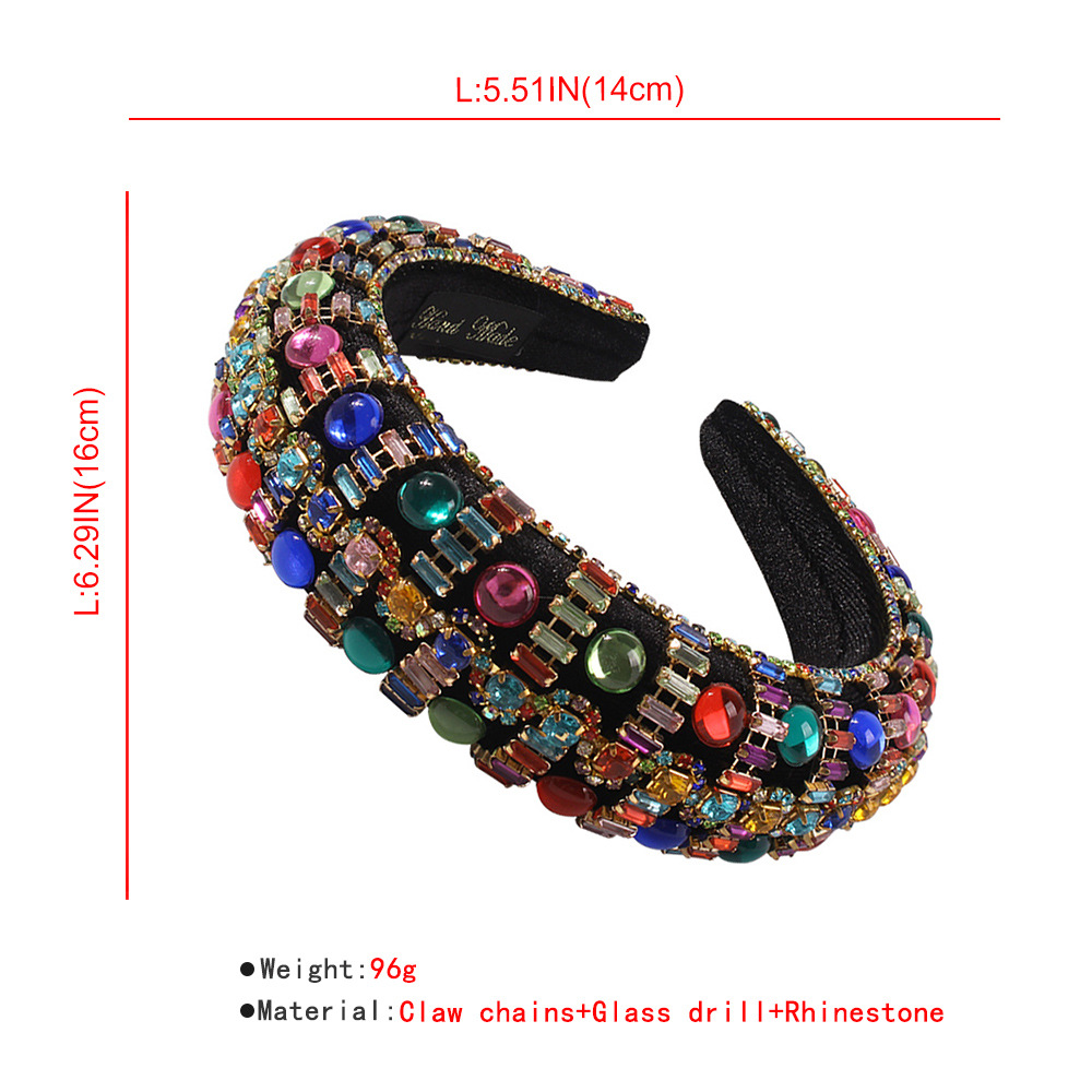 fashion baroque thick sponge womens hot sale diamond hair accessories wholesale NHMD248031