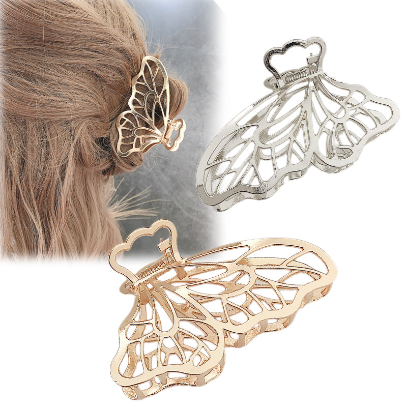 Korean simple large metal butterfly hairpin female new fashion adult hair clip headwear wholesale NHDQ205933