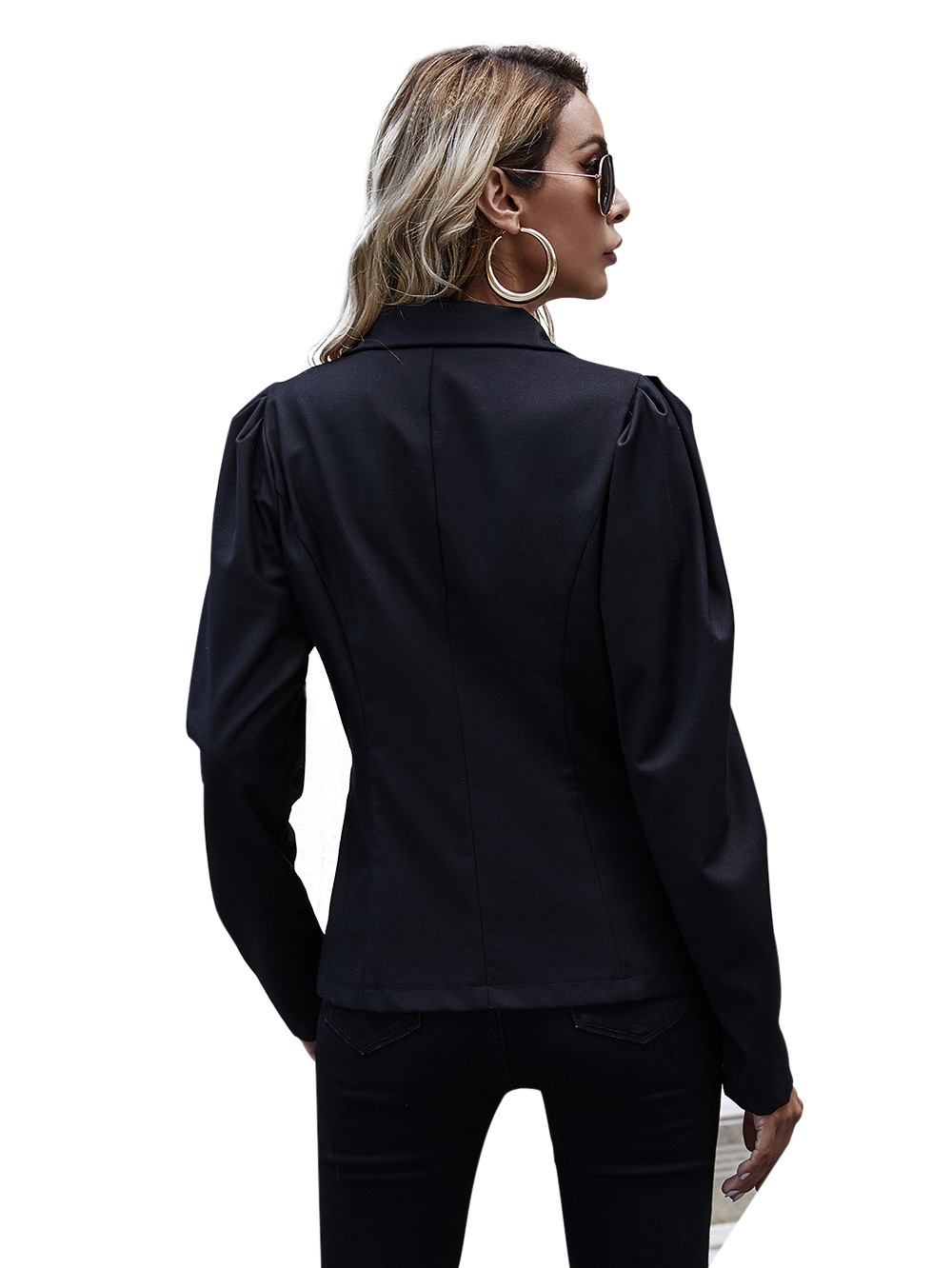 autumn and winter double-breasted blazer women's long sleeves NSDF3275